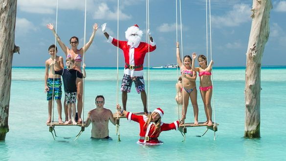 Santa arrival at Kandima Maldives