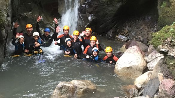Canyoning on a family multi activity adventure