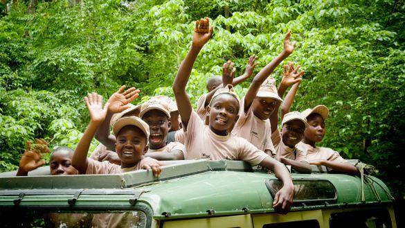 Children experience an Asilia Safari