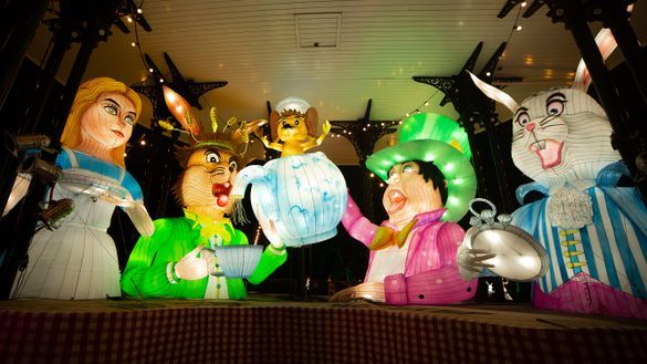Christmas at Lightwater Valley - Mad Hatter's Tea Party - Lantern Trail