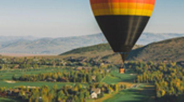 Balloon ride over Park City